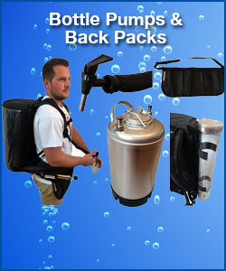 Bottle Pumps & Back Packs